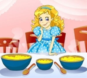 Illustration of Goldilocks