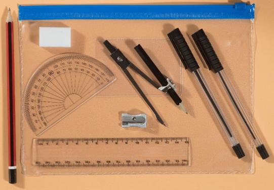 School pencil case contents