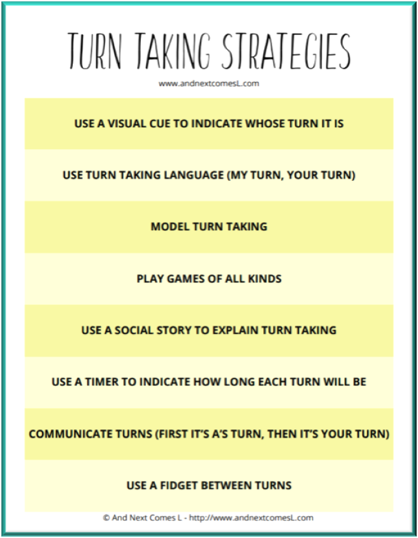 Turn taking strategies